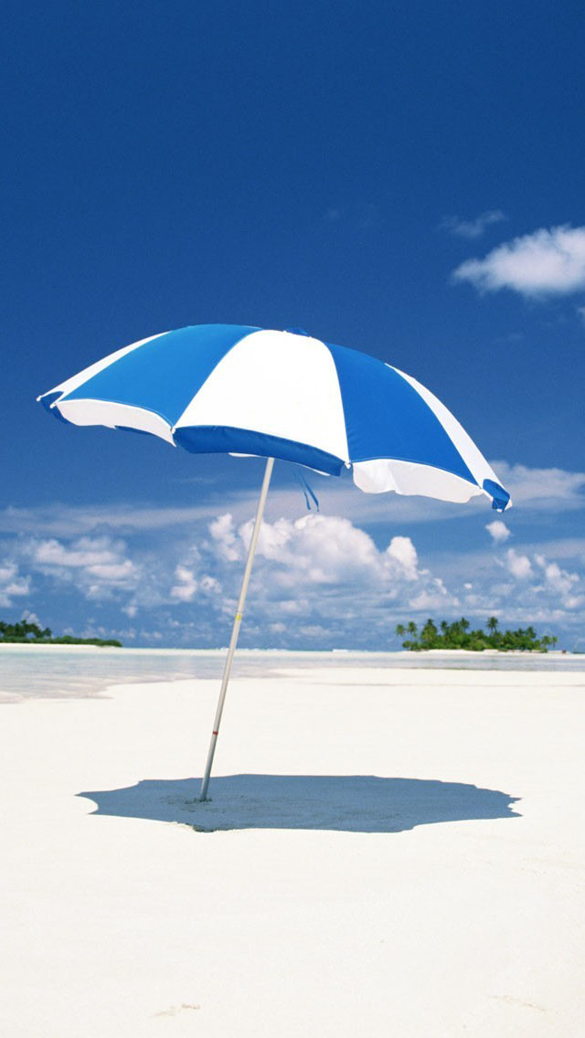 Bright Wallpapers For Iphone 6 Blue Beach Umbrella Iphone 6 6 Plus And Iphone 5 4
