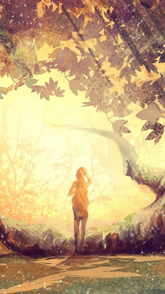 Beatles Iphone Wallpaper Free Lonely Girl In Forest Wallpaper Free Iphone Wallpapers