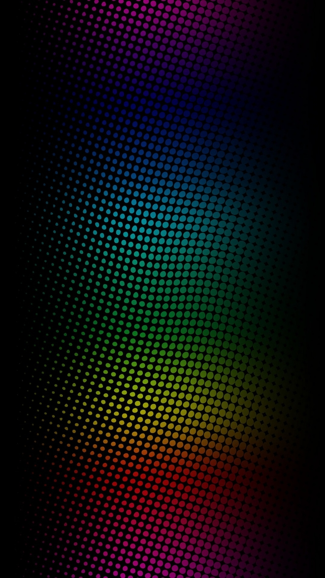 3d Wallpaper Parallax Free Neon Light Dots Iphone 6 6 Plus And Iphone 5 4 Wallpapers