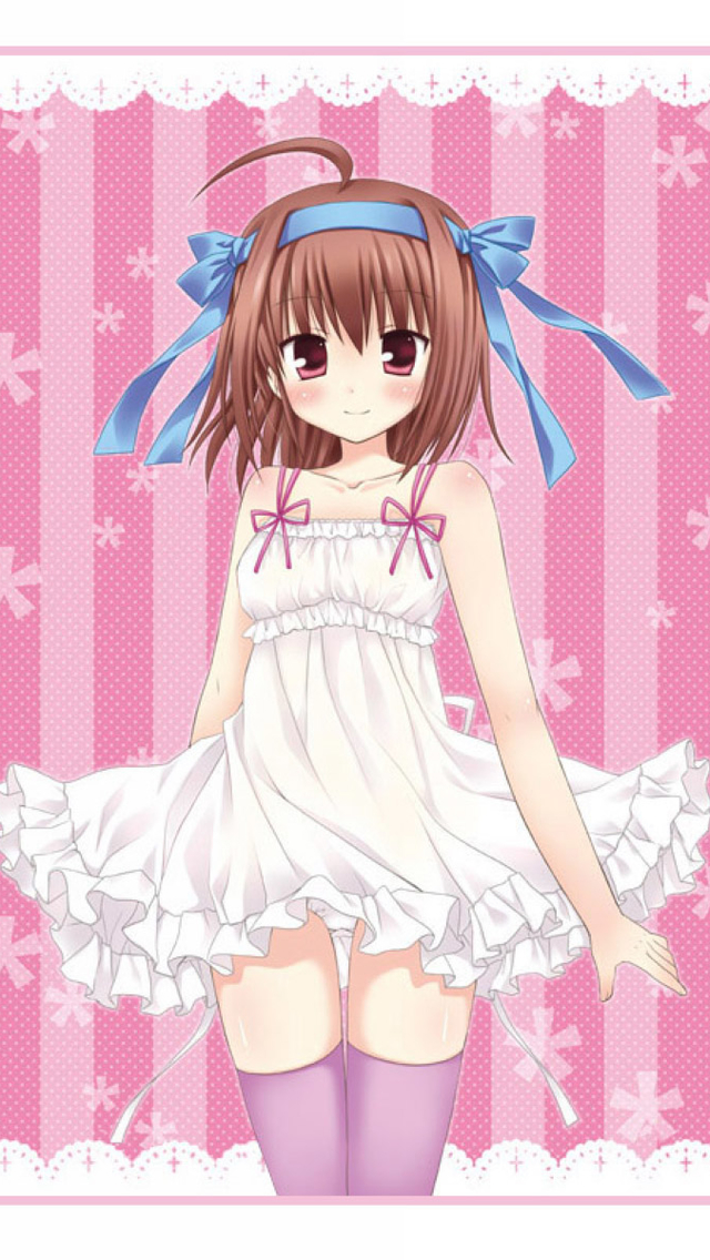 Free Download Wallpaper Anime Girl Cute Anime Girl White Dress Iphone 6 6 Plus And Iphone 5