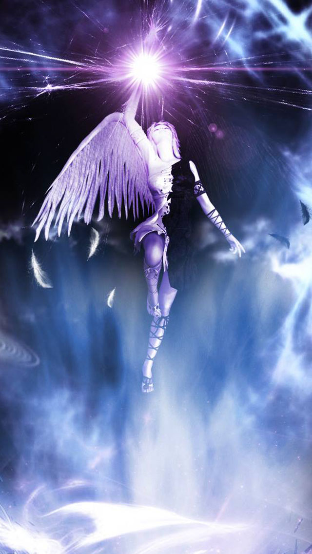Download 3d Wallpaper Parallax Holy Angel Iphone 6 6 Plus And Iphone 5 4 Wallpapers