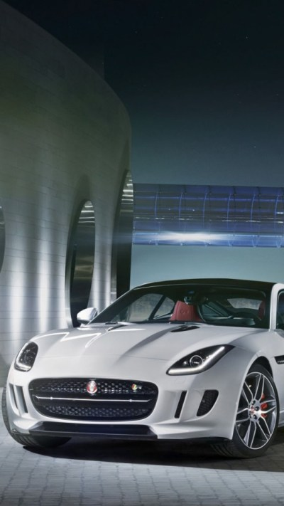 Jaguar F Type R Coupe White Wallpaper - Free iPhone Wallpapers