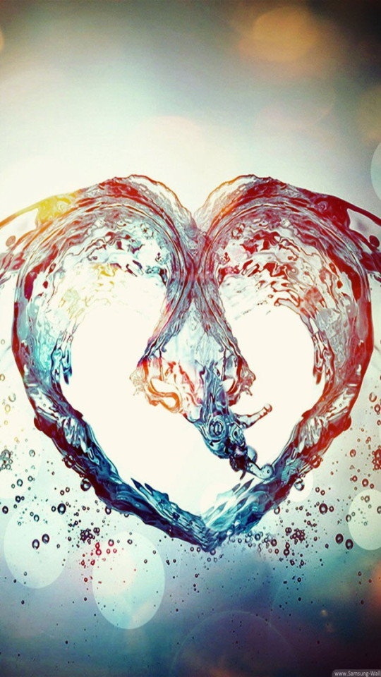 Lovely Girl Wallpaper Download Love Heart Of Water Wallpaper Free Iphone Wallpapers