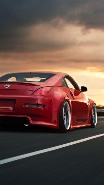 Nissan 350Z Red Wallpaper - Free iPhone Wallpapers