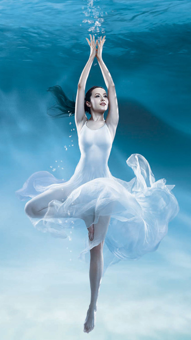 Lock Screen Wallpaper Iphone 4s Ballerina In The Water Iphone 6 6 Plus And Iphone 5 4