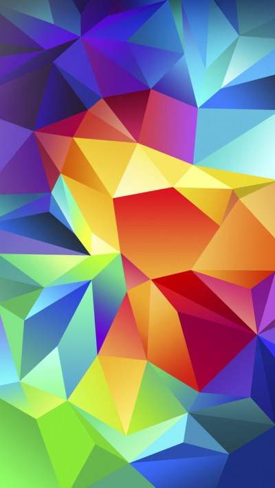 Colorful Polygons Wallpaper - Free iPhone Wallpapers