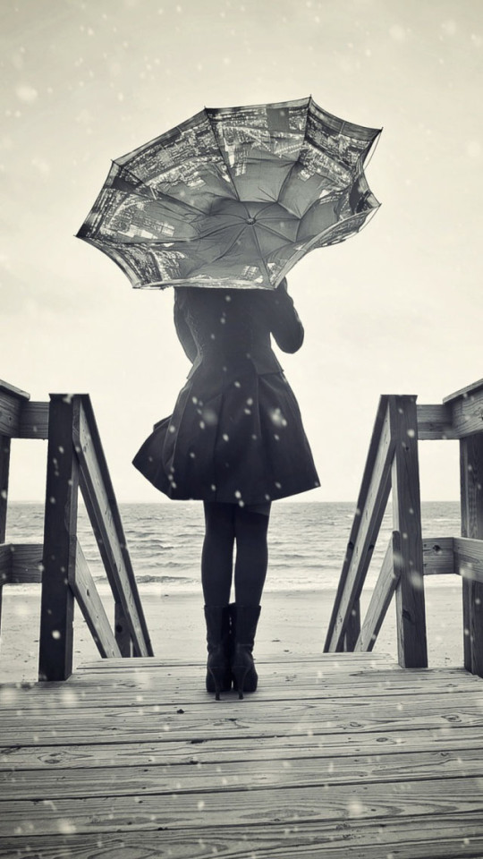 Sad Girl Sitting Alone Hd Wallpapers Lonely Girl Umbrella Wallpaper Free Iphone Wallpapers
