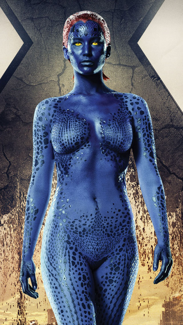 Apple Iphone 5s Wallpaper Hd Download Jennifer Lawrence Mystique In X Men Days Of Future Past