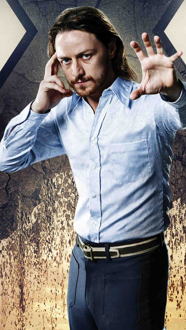 Iphone 4 3d Wallpaper Ios 7 James Mcavoy Charles Xavier In X Men Days Of Future Past