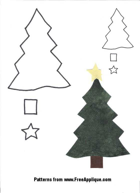 Christmas Patterns for Applique - Angels, Christmas Trees - free christmas tree templates