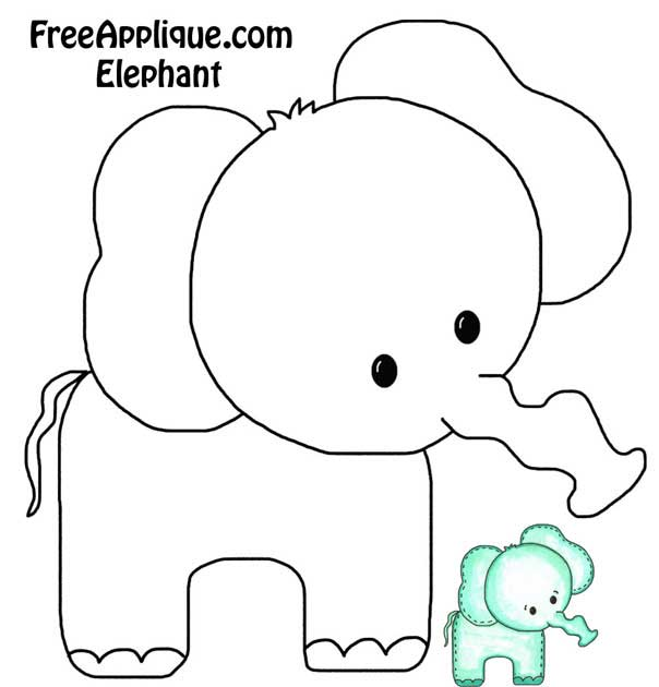 Luxury Elephant Applique Template Image Collection - Example Resume - elephant cut out template