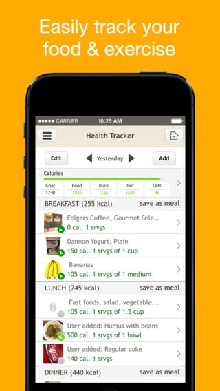 Fooducate - Nutrition Tracker iPhone App Review - nutrition tracker