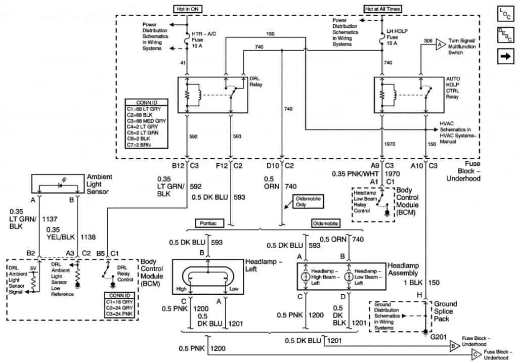 headlight wiring diagram 04 grand am
