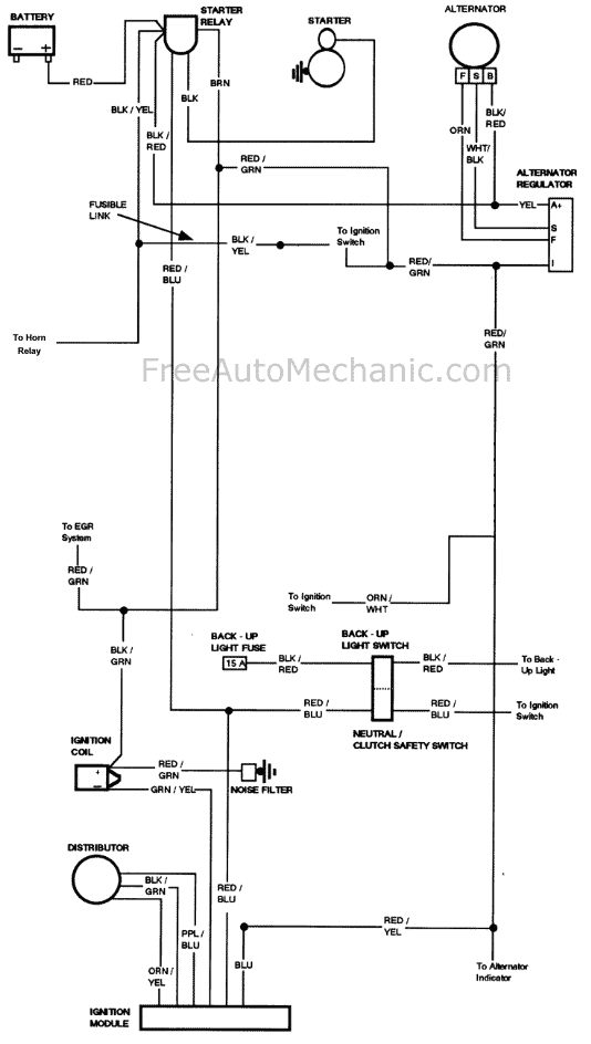 engine wiring diagram 1976