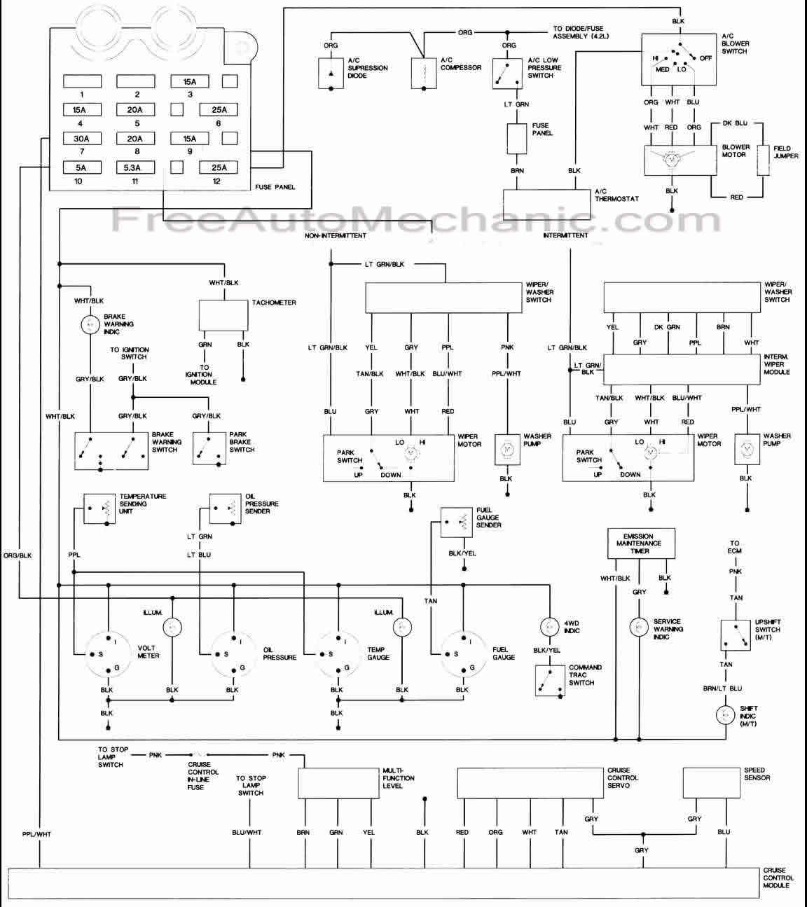 87 jeep wrangler wiring diagram
