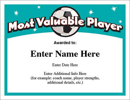 Soccer Certificates - Free Award Templates - Futbol - best of printable soccer certificate