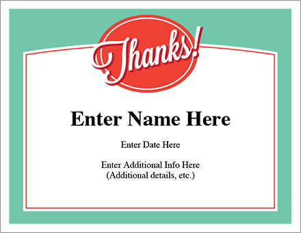 Thanks Certificate Appreciation Award Free Award Certificates - certificate sayings