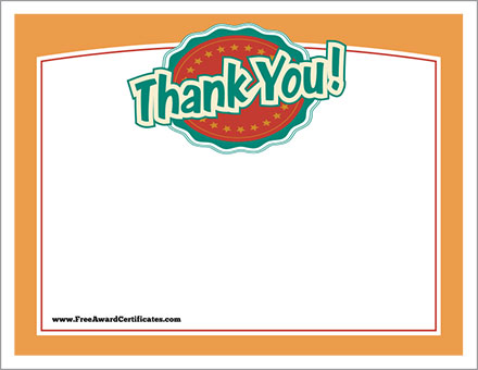 Thank You Certificates Templates - Free Award Certificates - thank you certificate template