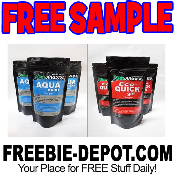 FREE SAMPLE \u2013 GelMaxx Slurry Clean Up Freebie Depot