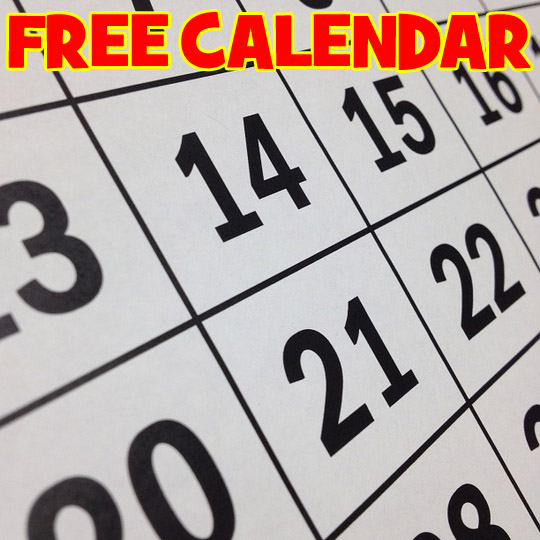 Calendars Freebie Depot