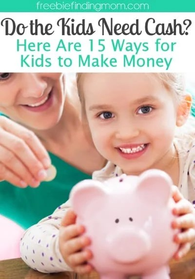 Do the Kids Need Cash? Here Are 15 Kids Ways to Make Money