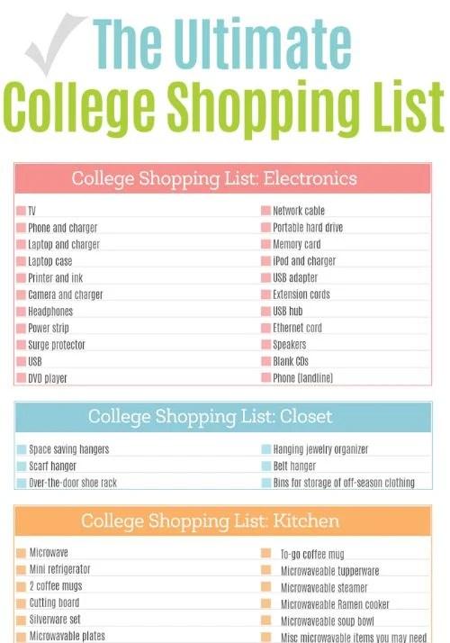 College-shopping-list-pinjpg - college organizer