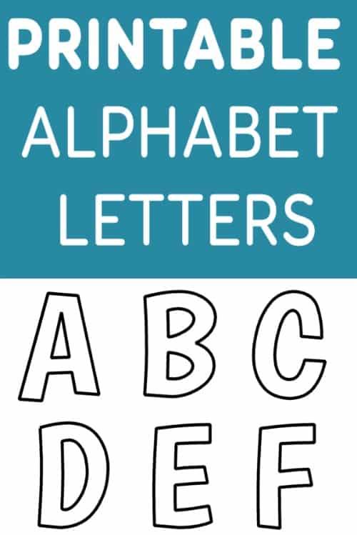 Printable Free Alphabet Templates - free letter templates