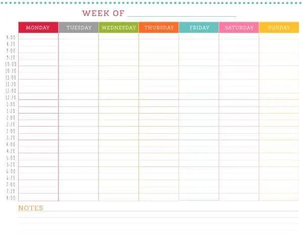 schedule calendar free