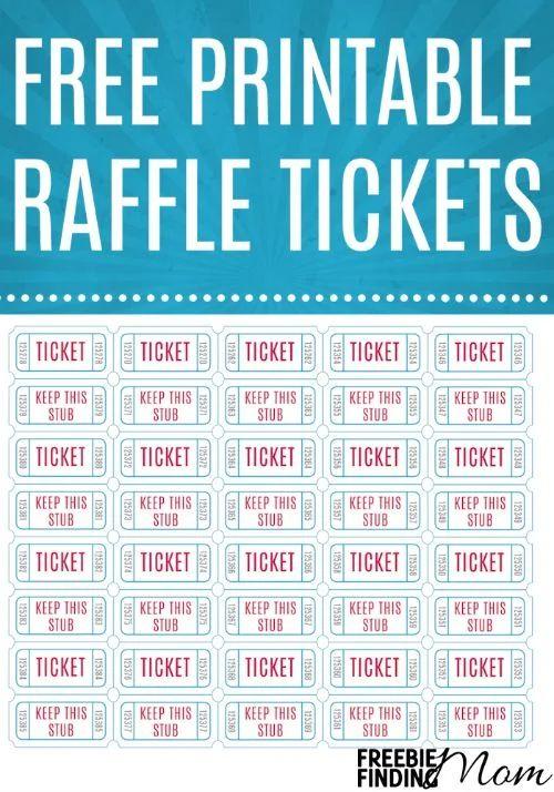 get raffle tickets printed