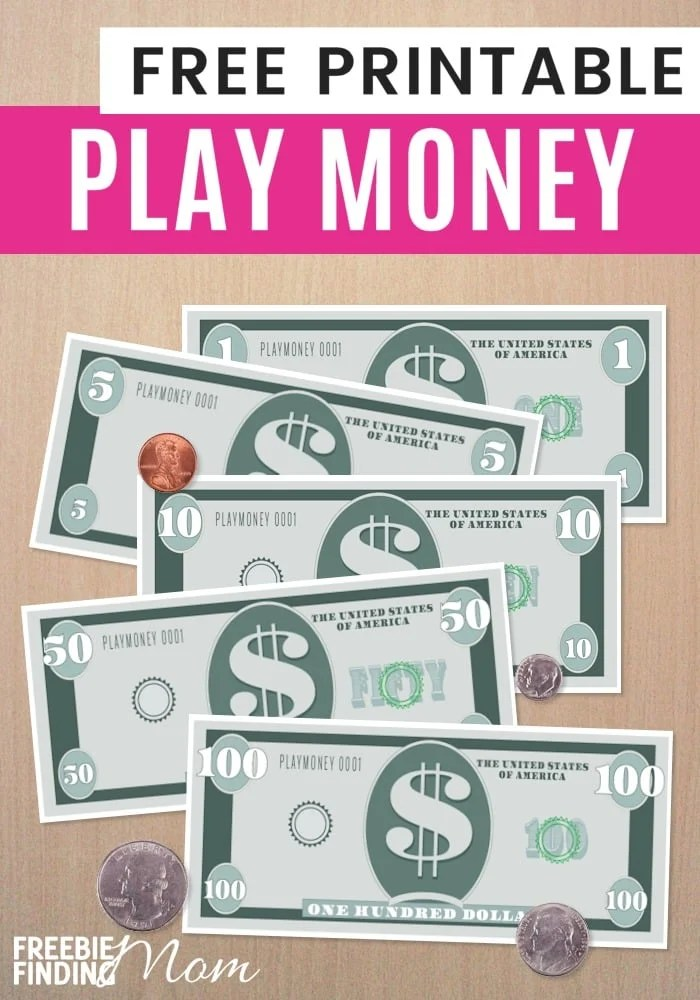 FREE Printable Play Money Template - play money template