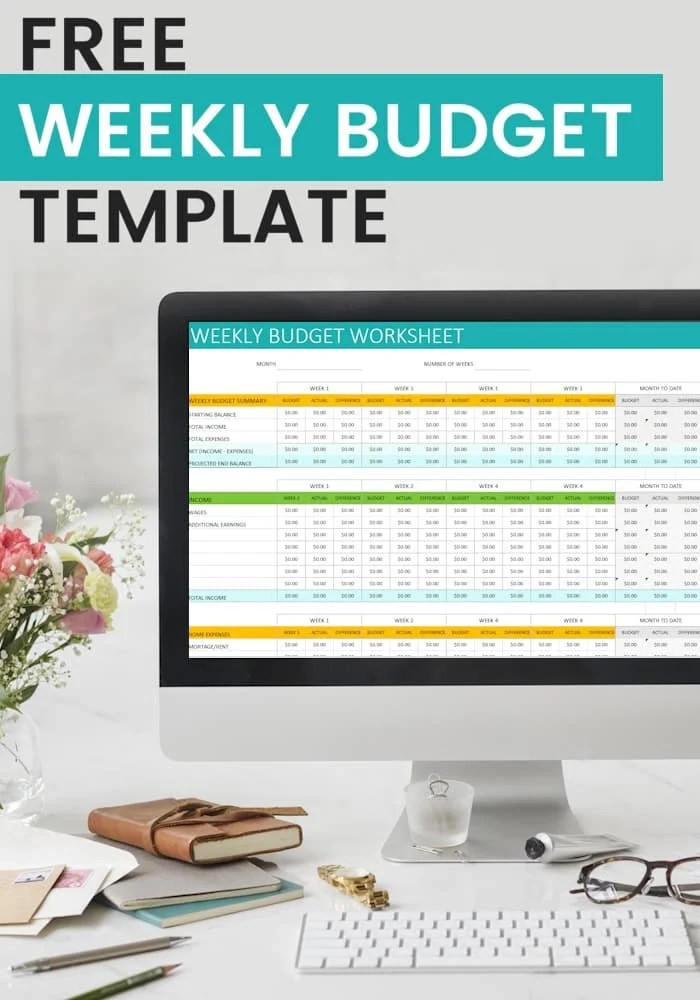 Free Personal Weekly Budget Template - weekly personal budget template