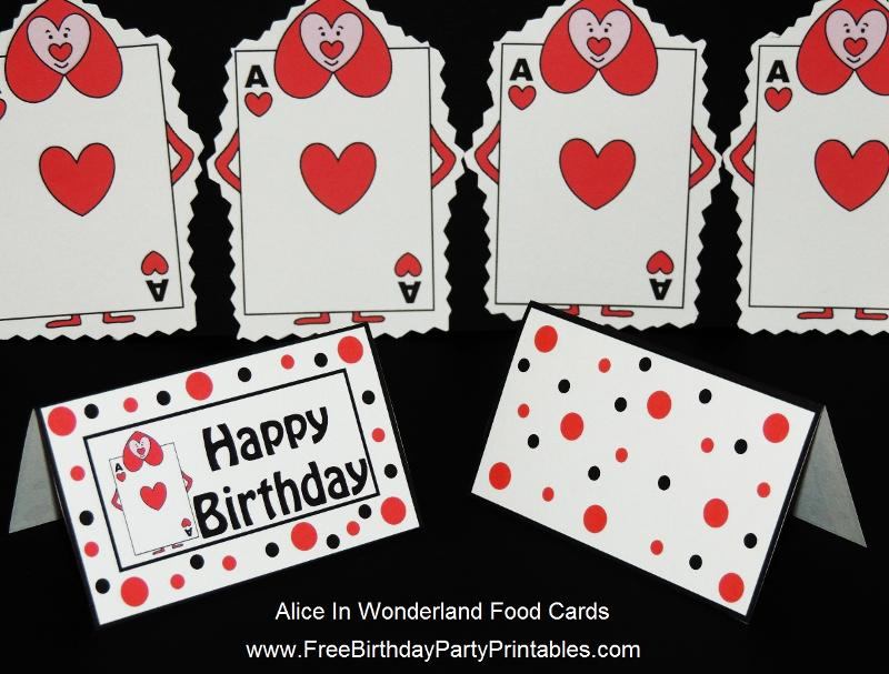 Alice In Wonderland Card Soldiers Printable Cutout - cards party