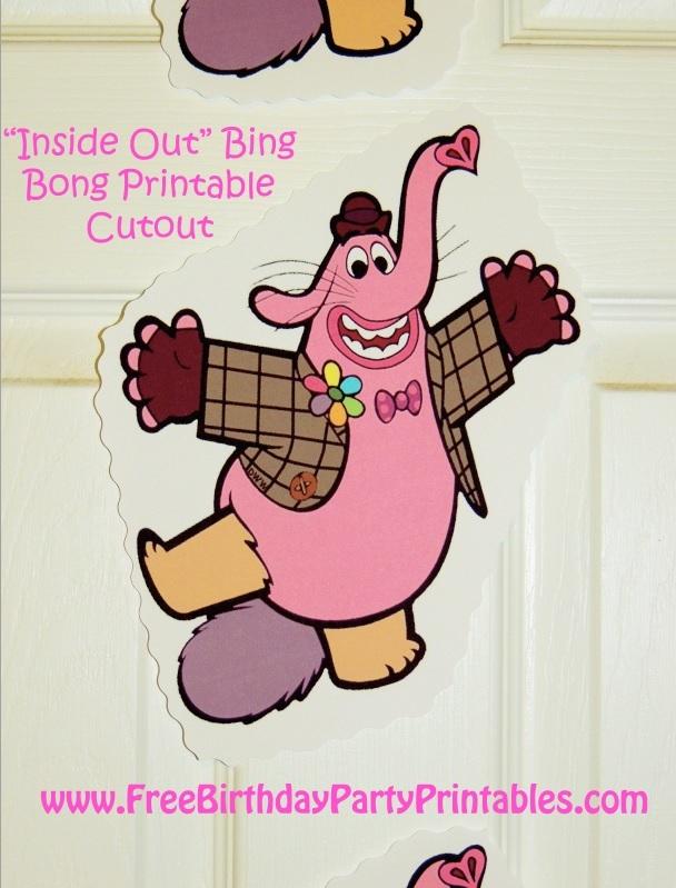 Bing Bong Inside Out Printable Cutouts