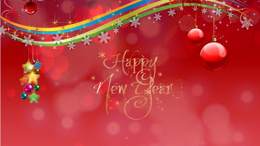 Happy New Year Card - Wallpaper - FreeChristmasWallpapersnet
