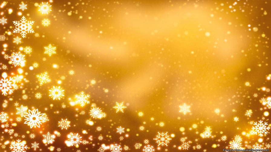 Yellow Christmas Background with Snowflakes - Wallpaper - christmas background image