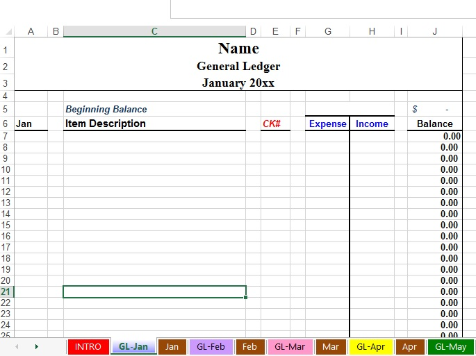 Accounting Worksheet Template Sample Blank Accounting Spreadsheet - ledger accounts template