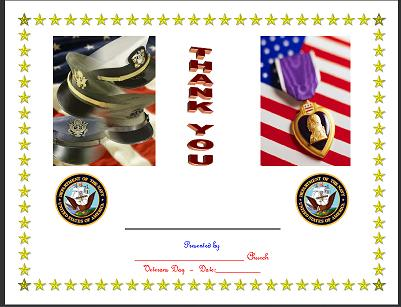 Veterans Day Free Veteran\u0027s Day Certificates/Forms