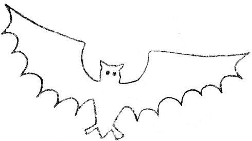 Free Halloween Bat Template 1 - bat template