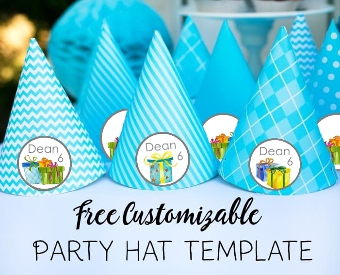 Party Hat Template Free Personalized Party Hat Template