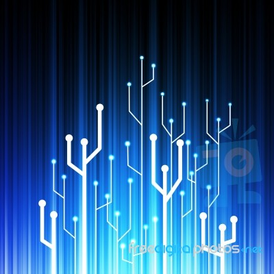 Circuit Board Tree Background Stock Image - Royalty Free Image ID - circuit design background