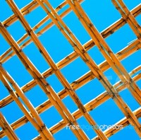 Morocco Abstract Bamboo Roof In The Africa Sky Stock Photo ...