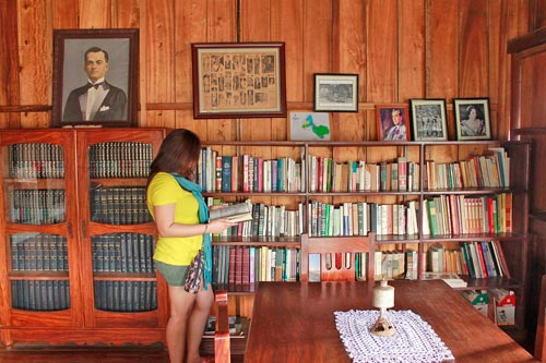 Inside the library of Doña Aurora Quezon's Ancestral House