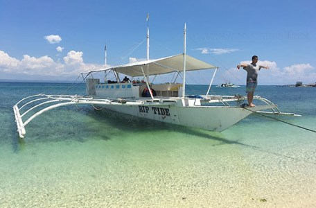Docked at Pandanon Island