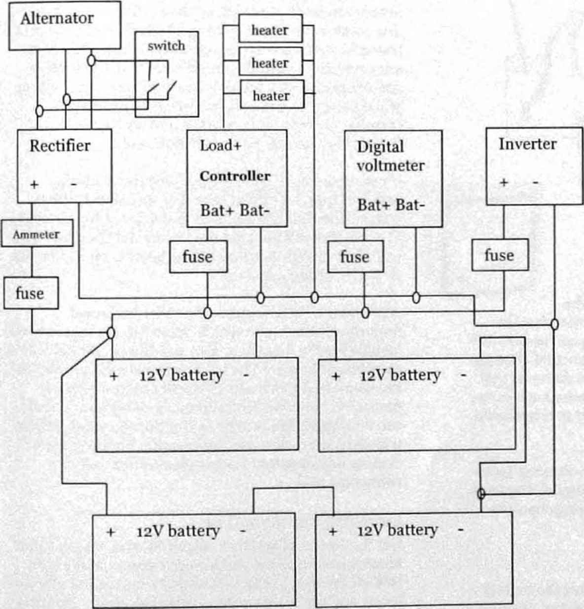 2wire alternator with voltmeter wiring diagram