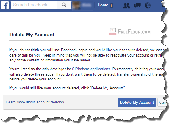 How do i delete my facebook account from my cell phone ltt 4 how to delete facebook account permanently on phone app mobile ccuart Image collections