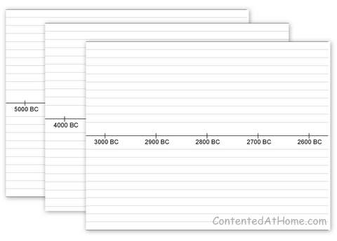 guesthollow has lots of free printable blank timelines for any