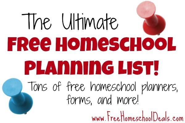 Ultimate Free Homeschool Planning List Free Homeschool Planners - homeschool schedule template