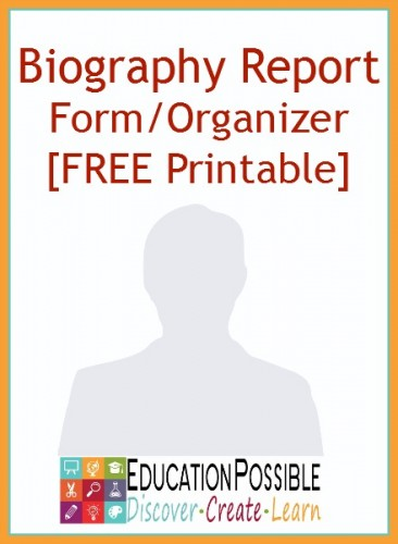 Free Biography Report Form/Organizer Free Homeschool Deals © - printable book report forms