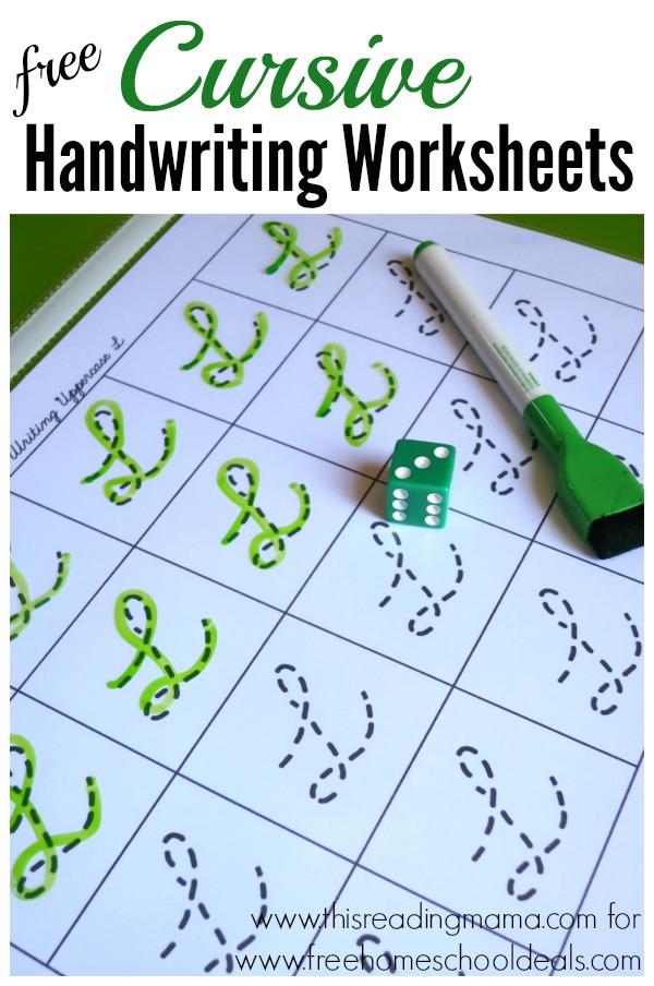 cursive handwriting practice sheets