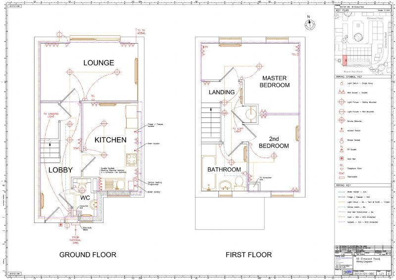house electrical wiring diagram uk